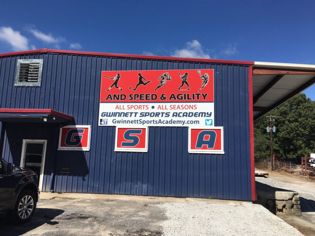 Gwinnett Sports Academy view of front entrance